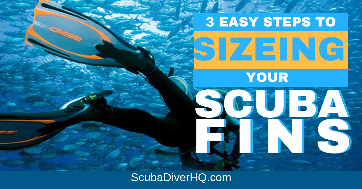 Scuba Fins Sizing And Size Chart Scuba Diver Hq