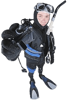 Diver with Scuba Regulator